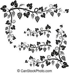 corners vine - corners and twigs with vine