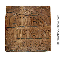 Cornerstone for original Ladies Library