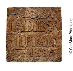 Cornerstone for original Ladies Library