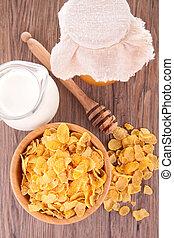 cornflake, mleczny
