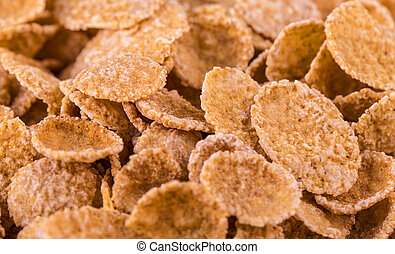 Cornflakes (close-up shot) for use as background image or as texture.