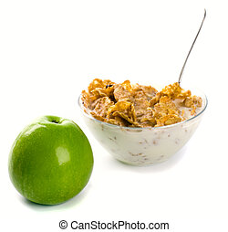 cornflakes green apple