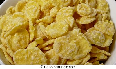 cornflakes in a bowl healthy eating breakfast - cornflakes...