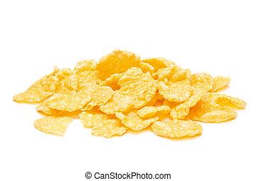 Cornflakes isolated on the white background