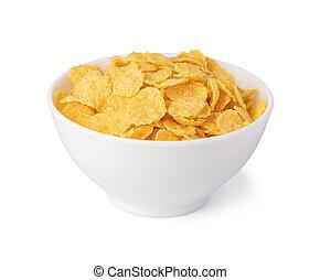 Cornflakes isolated on white background