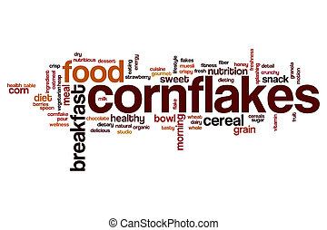 cornflakes, ord, moln
