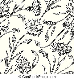 cornflower seamless pattern