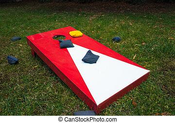 Cornhole Game Board with Bean Bags - Cornhole toss game ...