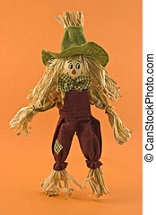 Cornhusk scarecrow doll