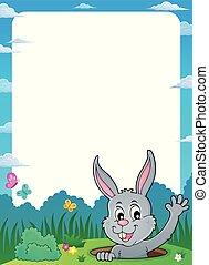 cornice, 1, tema, appostando, coniglietto pasqua