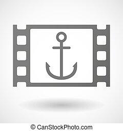 cornice, 35mm film, ancorare