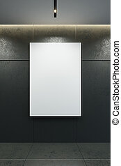 cornice, 3d, immagine, vuoto, interpretazione, parete
