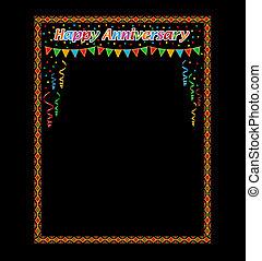 cornice, anniversario, felice