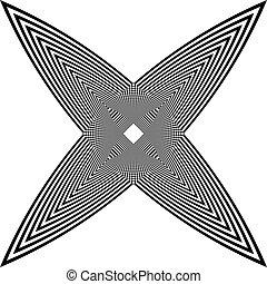 cornice, arabesco, trasparente, illusione, fondo, astratto, quad, farfalla, nero