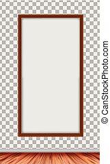 cornice, bianco, moderno, legno