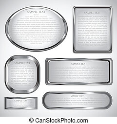 cornice, bordo, argento