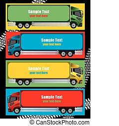 cornice, camion, astratto