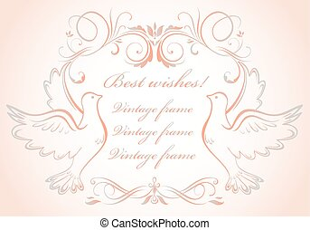 cornice, colombe, matrimonio