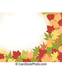 cornice, colorfull, foglie, cadere