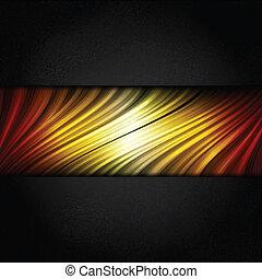 cornice, colori, zebrato, caldo, sfondo nero