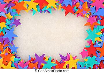 cornice, colorito, stelle