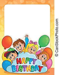 cornice, compleanno, tema, 3