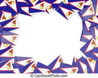 cornice, con, bandiera, di, samoa americana