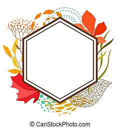 cornice, con, cadere, leaves.