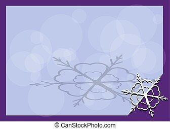 cornice, con, fiocco di neve, in, il, angolo