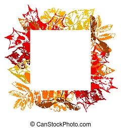 cornice, con, stampato, leaves.