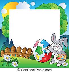 cornice, coniglietto pasqua, artista