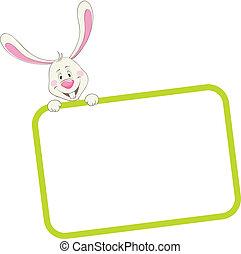 cornice, coniglio, etichetta