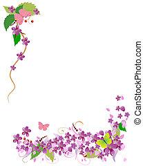 cornice, di, ciliegia fiorisce