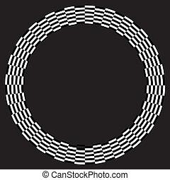 cornice, disegno, spirale, illusione