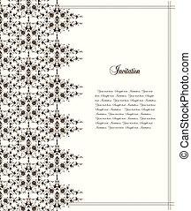 cornice, e, pattern., vettore, illustrazione