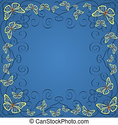 cornice, farfalle