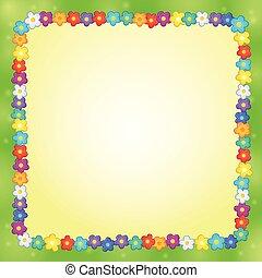 cornice, fiore, tema, 7