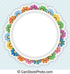 cornice, fiori, colorito