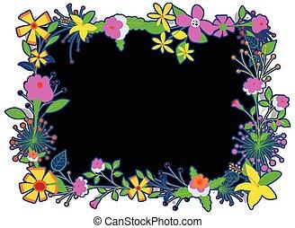cornice, fiori, variopinto