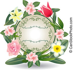 cornice, fiori