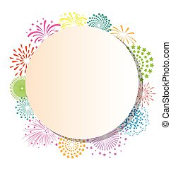 cornice, fireworks, sfondo bianco