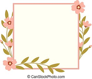 cornice, flowers., rettangolo