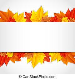cornice, foglie