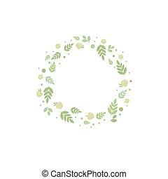 cornice, foglie, mele