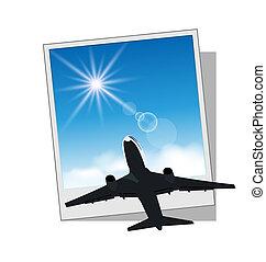 cornice foto, aereo, cielo