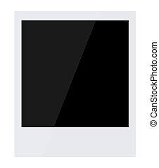 cornice foto, isolato, vettore, retro, bianco