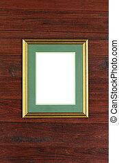 cornice foto, legno, fondo