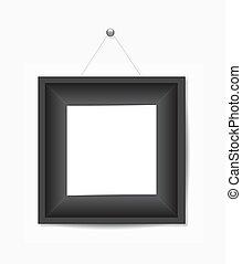 cornice foto, nero, bianco, appendere