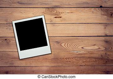 cornice foto, struttura, legno, fondo, vuoto