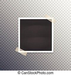 cornice foto, trasparente, fondo